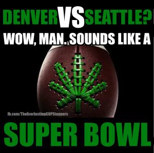 doobie bowl, super bowl, weed, cannabis, denver broncos, seattle seahwaks, pot