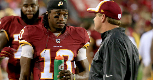 It sounds like Jay Gruden has given up on RG III