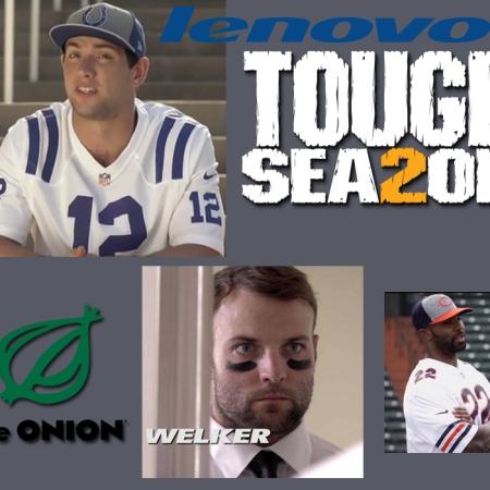 tough season the onion, the onion movie, lenovo yoga, wes welker, matt forte, andrew luck, youtube, tough season web series, adweek,