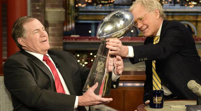 """Letterman says DeflateGate """"nonsense"""" during Belichick interview"""
