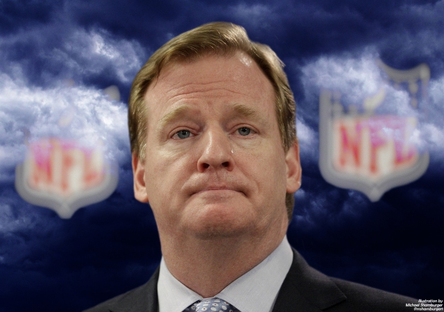 Roger Goodell crying dark clouds