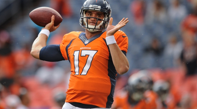 Peyton Manning or Brock Osweiler? It's not up for debate yet.