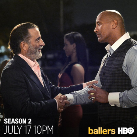 the rock hbo show ballers, ballers season 2