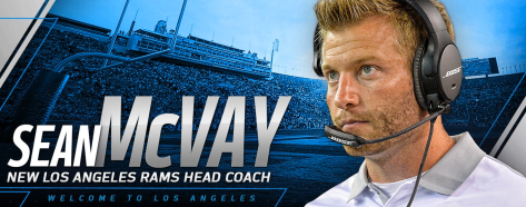 Sean McVay Rams head coach